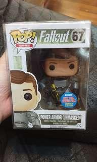Funko pop nycc power armor unmasked fallout 3 4 Las Vegas 76 ps3 ps4