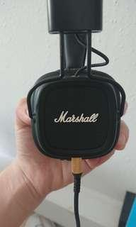 Marshall major II  headphones AUTHENTIC WITH RECEIPT AND BOX(USED)