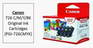 Canon CLI-726 CMYK Printer Ink Cartridge Value Pack