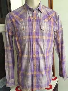 Levis Western Cowboy Doppia Corsia Tie-Dye Shirt Sz XL -$65@