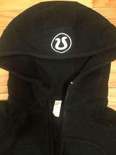 Used Lululemon black zip up scuba hoodie
