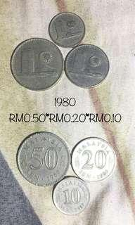 1980 Old Malaysia Coins