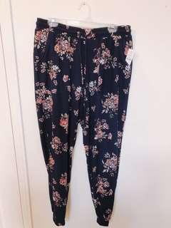 BRAND NEW: Floral Joggers - Size Large