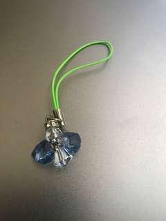 BN Crystal angel mobile charm strap