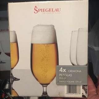 Short wine and beer glasses