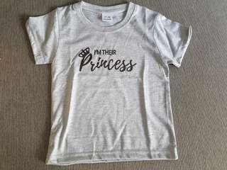 """Brand new """"I'm their princess/princess' baby tshirt"""