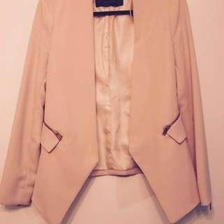 Classic Zara Piece! Peach Blazer -NEW PRICE