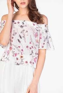 $10 TCL Delias Floral Off Shoulder Top INSTOCK CNY