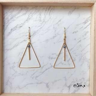 Golden triangle earring