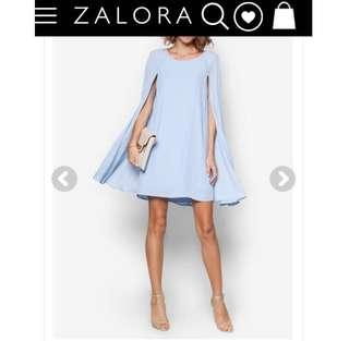 $15 Baby Blue Cape Sleeve Dress INSTOCK CNY