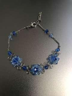 BN sweet blue handmade wrist bracelet