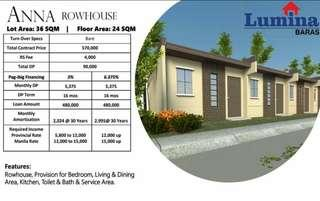 Affordable Rowhouse Townhouse and Single Firewall for Sale - Lumina Homes for Filipino