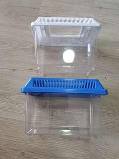 Plastic aquarium fish tank