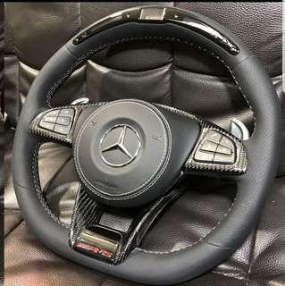Mercedes Carbon steering (display only)