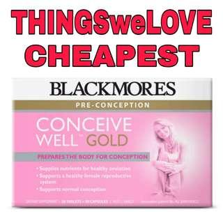 🚚 Blackmores Conceive Well Gold 28 Tablets + 28 Capsules