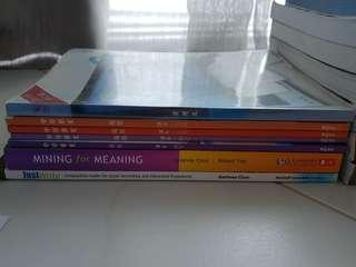 Upper Secondary textbooks for English and Higher Chinese