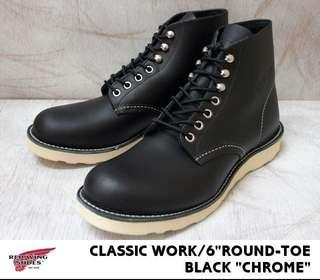 Red Wing 8165 Round Toe Black