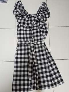 Tartan dress 5 in 1 black white