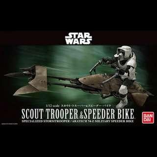 1/12 Scout Trooper & Speeder Bike