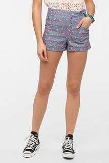 UO High Waist Floral Shorts