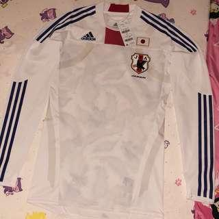 JAPAN ADIDAS TECHFIT LONG SLEEVE AUTHENTIC PLAYER ISSUE AWAY 2011/12 FOOTBALL JERSEY SHIRT NEW O SIZE