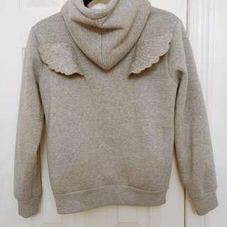 Hoodie with 3D angel wings