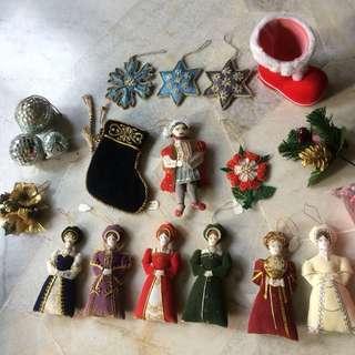Handmade Henry VIII and 6 wives Christmas tree decor