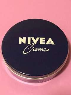 Nivea經典藍罐大盒裝潤膚膚日本版日本制造+港版德國制造可做面膜