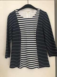 Brand New | Trenery woman's stripes top | Size XS