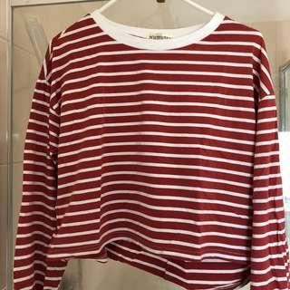 Red Stripe Crop