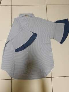 Shirt merk ADA women denim salur blue