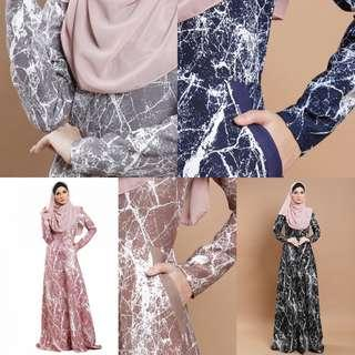 ARLAN PRINTED JUBAH jubbah juba jubah baju dress abaya abayah