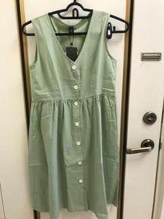 🚚 青蘋綠無袖春夏洋裝