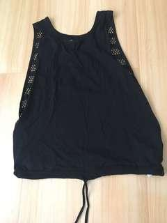 Black mesh workout singlet