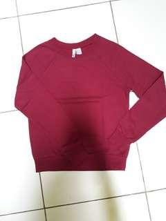 H&M sweater maroon original 100%