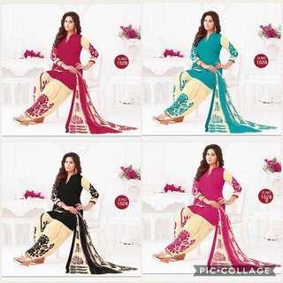 Crepe Material Punjabi Suit