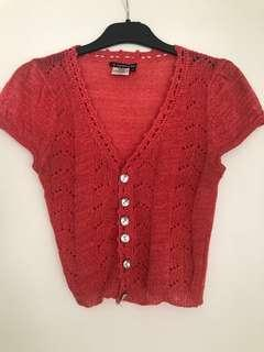 Cute women's cropped cardigan | Size small