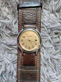 Fossil Gaban Brown Leather