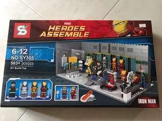 Ironman 國內LEGO 格納庫場境