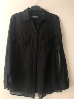 Marcs   Wowens sheer long sleeve button up shirt   Size 8