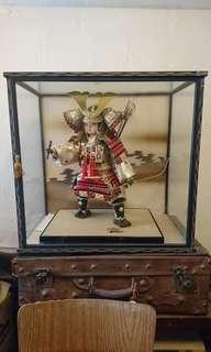 Vintage Japanese Warrior Samurai Boy Display