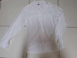 H&M white shirt kemeja putih hnm