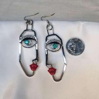 H&M Face Earrings