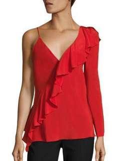 Diane Von furstenberg red blouse top