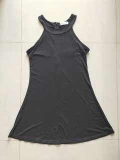 Black basic halter dress