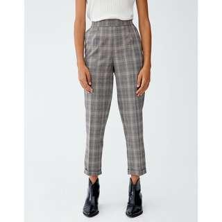 Pull and Bear Checked tailored trousers