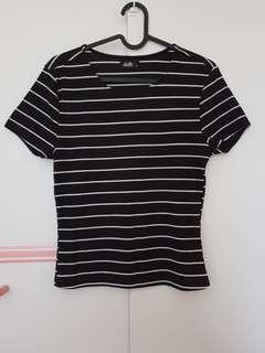 Ribbed stripes tee