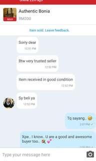 Customer precious feedback