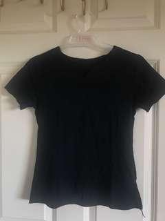 V neck cut t shirt