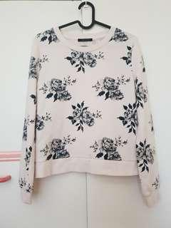 Japanese Floral white jumper